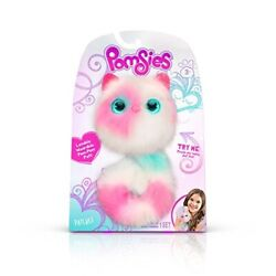 Pomsies Patches Plush Interactive Toys White/pink/mint