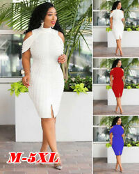 Plus Size Womens Pearl Maxi Midi Dresses Elegant Split Vintage Cocktail Evening $39.99