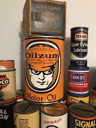 Oilzum Quart Oil Can Coin Bank With Coin Slot, Oil