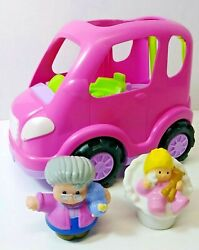 Fisher Price Little People Pink All Around Car Or Suv Van Sounds Music 2013