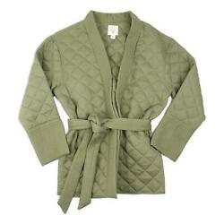 Billabong Womens Piece Out Quilted Jacket Sage M New