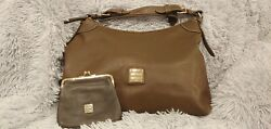 Dooney amp; Bourke Signature Pebbled Leather Hobo And Wallet $90.00