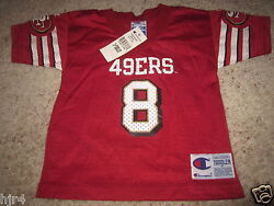 Steve Young 8 San Francisco 49ers Champion Nfl Jersey Toddler 3t New