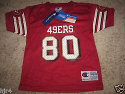 Jerry Rice 80 San Francisco 49ers Nfl Champion Vintage Jersey Toddler 4t New