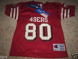 Jerry Rice 80 San Francisco 49ers Nfl Champion Jersey Toddler 3t New