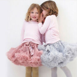 Girls Kids Tutu Skirt Kids Dance Tutu Petticoat Party Dress Ballet Fluffy layer
