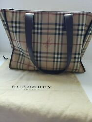 Large burberry tote canvas $260.00