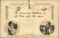 Wireless Automatic Eletric Telephone Co Chicago Il 1908 Electrical Show Postcard
