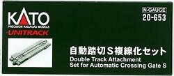 Kato N Scale Double Track Attachment Set Automatic Crossing Gare S 20-653 Japan