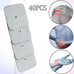 40x Soft Electrode Pads Patches For Tens Acupuncture Digital Therapy Massager Us