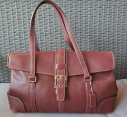 Authentic Coach Hampton Satchel Hobo Bag Purse #9268 in Burgundy Leather $42.95