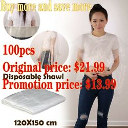 ❥waterproof Disposable Hair Salon Capes Washing Pads Shampoo Cape Barber Scarf