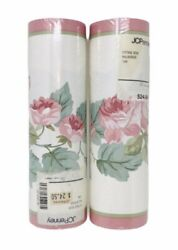 Laura Ashley Wallpaper Border Cottage Rose Pink Floral 10 Meters Long Pack of 2