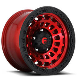 18 Fuel Wheels D632 Zephyr Candy Red W Matte Black Ring Off Road Rimss45