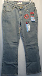 Nwt Sz Misses 8 Medium Low Rise Bootcut Blue Jeans New Free Ship 260
