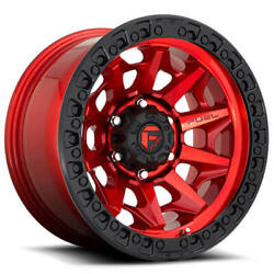 20x9 Fuel Wheels D695 Covert 5x139.70 Candy Red Black Ring Off Road Rim 20 S45