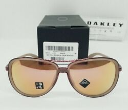 OAKLEY matte sepia rose gold quot;PRIZMquot; SPLIT TIME OO4129 1558 sunglasses NEW $94.99