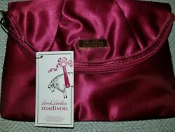 NEW Brooks Brothers Madison Clutch Purse Cranberry $15.00