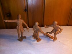 1964 Marx 6 Inch Wwii Japanese Soldiers Figures Lot Of 3