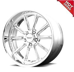4ea 17 Staggered American Racing Wheels Vn507 Rodder Chrome Rimss43