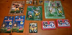Green Bay Packers Hodge Podge Of Collectibles Featuring Brett Favre And More
