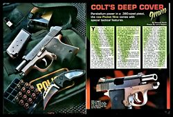 1999 Colt Pocket Ninja Deep Cover 9mm Pistol Article With Fabulous Centerfold