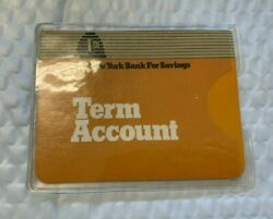 Vintage 1960's 1st New York Bank For Savings Term Account Booklet Ledger