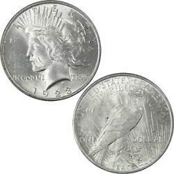 1923 Vam 1d Whisker Cheek Peace Dollar Au About Uncirculated 90 Silver 1 Coin