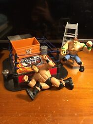 Wwf Slammers Action Ring And Wwe Power Slammers John Cena Randy Orton +accessories