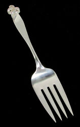 Wallace Orchid Elegance Sterling Silver 8 1/2 Cold Meat Fork