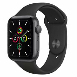 Apple Watch SE GPS 44mm Aluminum Case Black Sport Band Space Gray MYDT2LL A $239.00