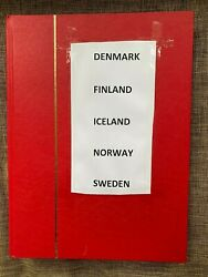 Denmark Finland Iceland Norway Sweden Mint/used Postage Stamp Album Collection