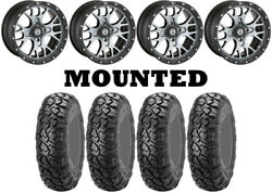 Kit 4 Itp Ultracross R-spec Tires 32x10-15 On Moose 545x Machined Wheels H700
