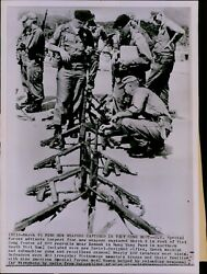 Lg845 1965 Wire Photo Red Weapons South Vietnam Communist Rifles Stacked Guns