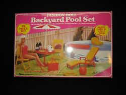Vintage Arco Fashion Doll Backyard Pool Set Pepsi For Barbie And Others In Box Gb5