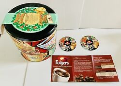 Vintage Limited Edition Folgers Promo Holiday Coffee Can-tin 2 Coasters/booklet