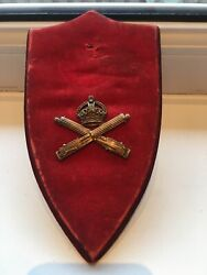 Old Ww1 The Machine Gun Corps Officers , Bronzed- Cap Badge- Free Shipping