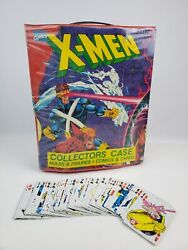 Vintage X-men Collectors Case For Action Figures And Full Deck Playing Cards 52