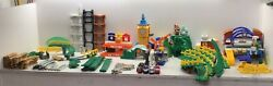 Fisher Price Geotrax Working Train Railway Set With Track And Building 90+ Pieces