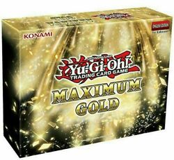 Yu Gi Oh Maximum Gold 1st Edition Booster BOX Sealed English Yugioh IN STOCK