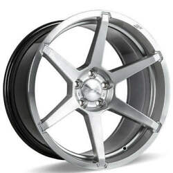 4ea 22 Staggered Ace Alloy Wheels Aff06 Silver With Machined Face Rimss41