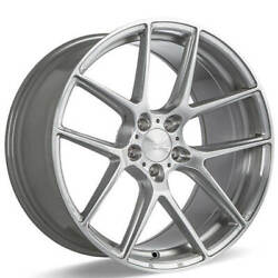 4ea 20 Staggered Ace Alloy Wheels Aff02 Silver Brushed Rimss41