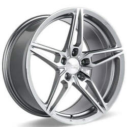 4ea 20 Ace Alloy Wheels Aff01 Silver With Machined Face Rimss41
