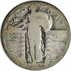 1927-s Standing Liberty Silver Quarter Ag Uncertified