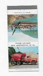 Matchbook Cover Ohio Valley Sand Co New Martinsville Wv Cement Truck 5306
