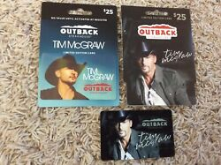 Tim Mcgraw Outback Steakhouse Collectible Gift Card Lot 2 No Value Unused