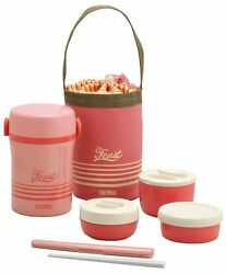 Thermos Heat Insulated Lunch Box Pink Jbc-801 Cp Bento From Japan New