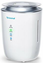Bizond Ultrasonic Humidifier Ultra Quiet - Warm And Cool Mist Humidifier For Bed