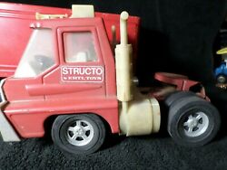 Vintage Nylint Structo Ertl Red Semi Truck And Trailer Red Buddy L