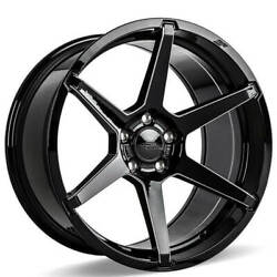 4ea 20 Ace Alloy Wheels Aff06 Gloss Black With Milled Accents Rimss42